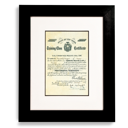"Gaylord Archival® Black Registry Collection Wood Frame Kit with 1 1/8"" Molding"