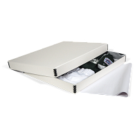 Gaylord Archival® White Barrier Board Textile Box with Tissue
