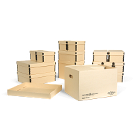 Gaylord Archival® Light Tan Nesting Storage Boxes