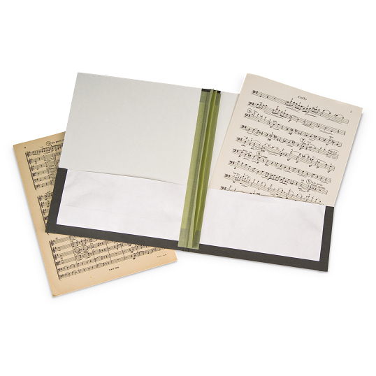 "Gaylord Archival® 1/4"" Glue-In Barrier Board Music Binders (5-Pack)"