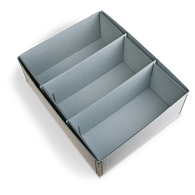 Gaylord Archival® 3-Compartment Blue Artifact Tray