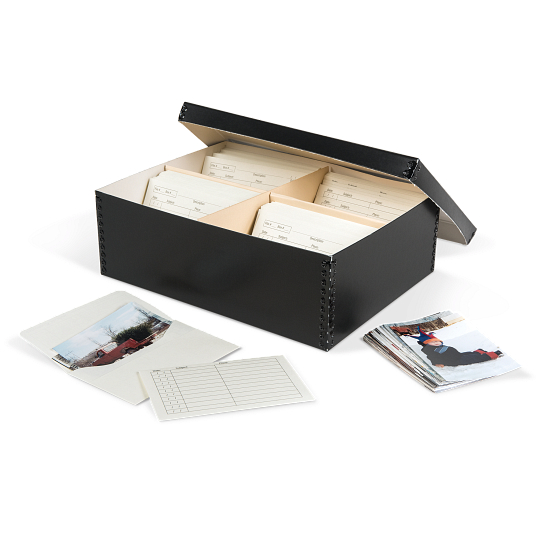 Gaylord Archival® High-Capacity Barrier Board Photo Box with Envelopes