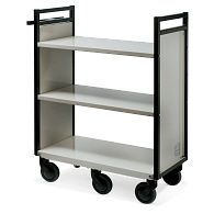 Gryphon® 2-Tier Flat Shelf Steel Book Truck