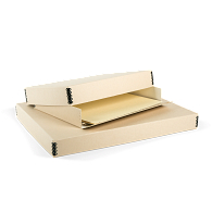 Gaylord Archival® Tan Barrier Board Drop-Front Newspaper/Print Box