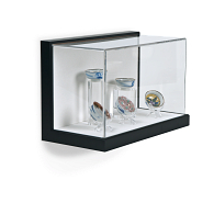 Gaylord Archival® Little Gem Black Wall-Mount Exhibit Case with Linen-Wrapped Interior