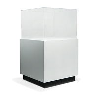 Gaylord Archival® Sapphire™ Square Paintable Pedestal Case with Humidity Control