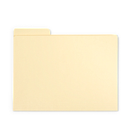Gaylord Archival® Classic Third-Cut Tab Letter Size File Folders (100-Pack)
