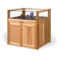 Gaylord Archival® Salina™ Glass-Top Hickory Retail Display Cabinet