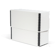 Gaylord Archival® White Barrier Board Flip-Top Document Case