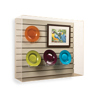 Gaylord Archival® Wall-Mount Slatwall Exhibit Case