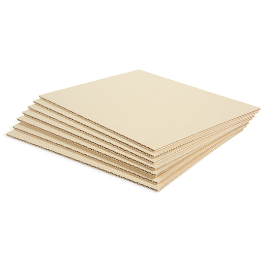 Gaylord Archival® Light Tan B-flute Corrugated Board Sheets (25-Pack)