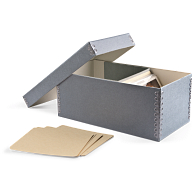Gaylord Archival® Blue/Grey Barrier Board Postcard Box