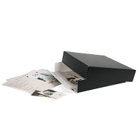 Gaylord Archival® Black Barrier Board Drop-Front Project Box