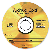 Delkin Devices Archival Gold™ 52x CD-R Discs (25-Pack)