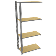 "Tennsco Z-Line Boltless 42""W Shelving Adder Unit with Particle Board Shelves"