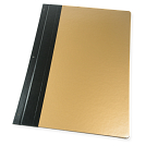 Gold cover with black binding