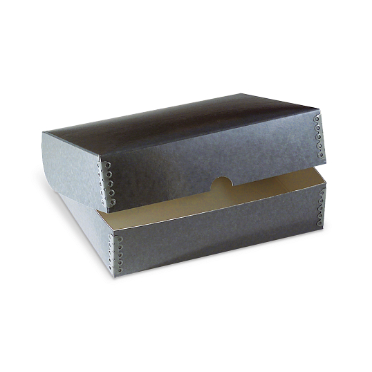 Gaylord Archival® DocuDry™ Blue/Grey Clamshell Box