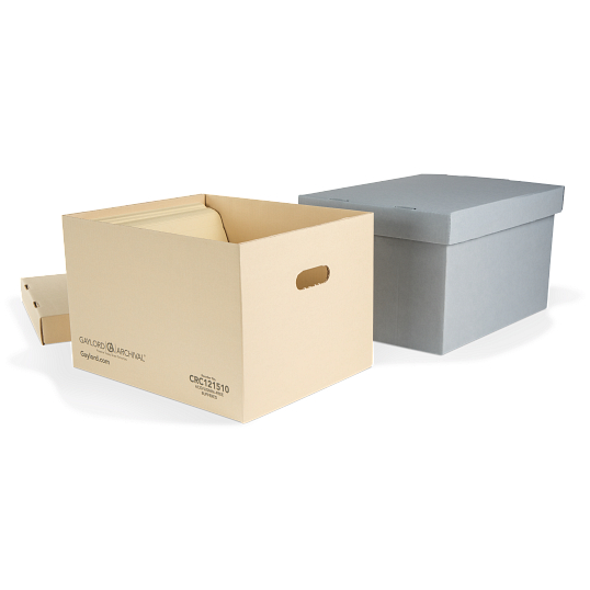 Gaylord Archival® Classic Record Storage Cartons with Handholds (5-Pack)