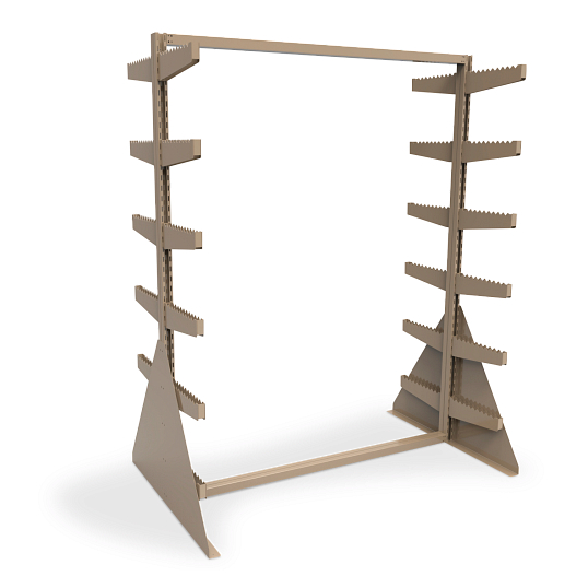 Double-Sided Freestanding Textile Roll Storage Rack