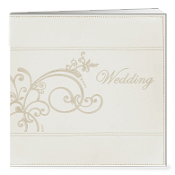 Pioneer® Embroidered Leatherette Wedding Scrapbook