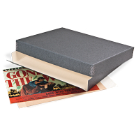 Gaylord Archival® Blue/Grey Barrier Board Drop-Front Lobby Card Box