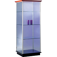 Peter Pepper Products PepperMint® Circular Profile Exhibit Case with Wood Top and 2 Doors