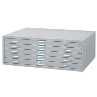 "Safco® Horizontal 5-Drawer Flat File for 30 x 42"" Sheets"