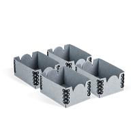 "Gaylord Archival® Blue E-flute 2 1/8 x 3"" Internal Trays for Modular Box System (4-Pack)"
