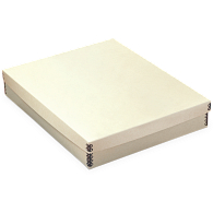 Gaylord Archival® Tan Barrier Board Shallow Lid Box