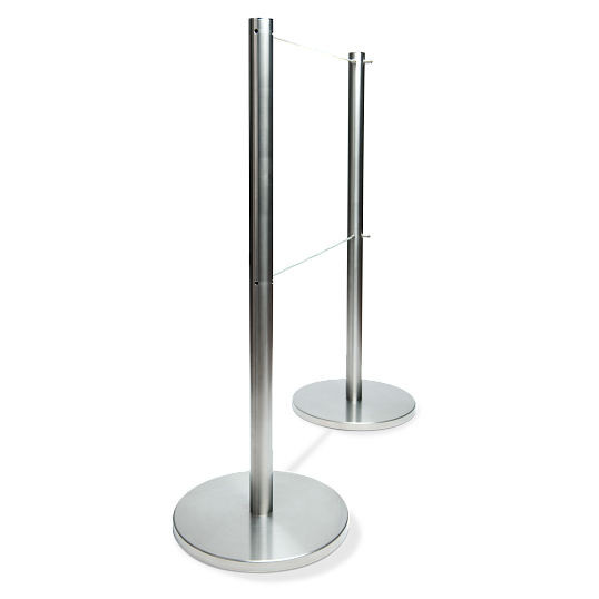 Q-Cord™ Museum Barrier with Dual Retractable Cords
