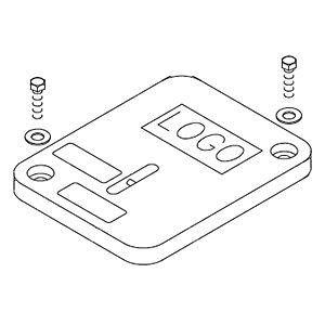 Quazite® HD PC Style Cover, Polymer Concrete, (2) Bolts, 18-1/8 L x 11-1/4 W x 1-3/4 in. T, ELECTRIC Logo