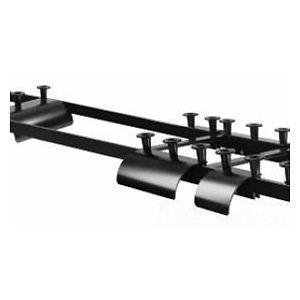 Cable Runway Radius Drop, Stringer Adjustable, 10.25 in.W, Black