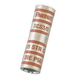 Compression Butt Splice, Standard Barrel, Copper, 4/0 AWG, Purple