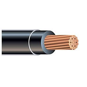 THHN Building Wire, 4 AWG Stranded Copper Conductor, Black, 1000 ft. Reel