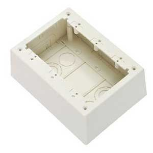Non-Metallic Power Rated Deep Outlet Box For LD Series Raceway, White