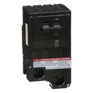 QO Miniature Circuit Breaker, Plug-In, 10kA, Common Trip, 120/240 Vac, 2-Pole, 175A