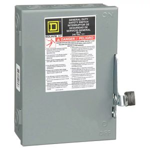 General Duty Disconnect, Non Fusible, 60A 120/240V, 3P3W
