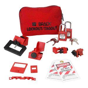 Breaker Lockout Sampler Pouch With Brady Safety Padlocks & Tags