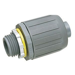SNAP²IT® Push-On Liquid Tight Connector, UV-Rated Plastic, Straight, 3/4 in.