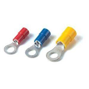 Sta-Kon® Nylon-Insulated Ring Terminal, 18 to 14 AWG, #8, Blue, 100 PK