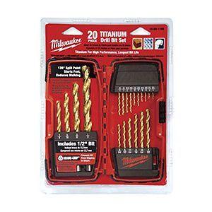 Thunderbolt® Titanium Drill Bit Set, 20 pc.