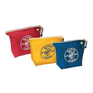 Zipper Bag, Blue, Red and Yellow