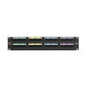 Voice Grade Copper Patch Panel, Pre-Connectorized, 24-Port, (4) 25-Pair Connectors, 2 RU