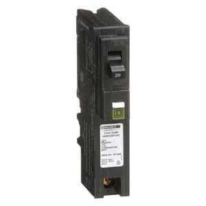 Homeline® Circuit Breaker, Plug In, Plug-On Neutral Combo Arc-Fault Interrupter, 10kA, 120 Vac, 1-Pole, 20A