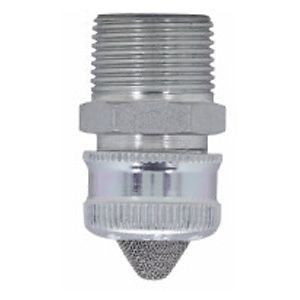 Conduit Drain With Stainless Steel Mesh, Electroplated Steel, Straight, Ordinary Location, 1/2 in.