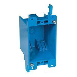 Blue Polycarbonate Outlet Box