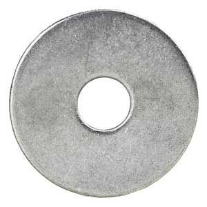 Stainless Steel Fender Washers, 1/2 x 2 in., Pack of 100