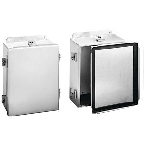 Type 4X Enclosure, Aluminum, Wall Mount, Clamp Cover, 14 x 12 x 6 in.