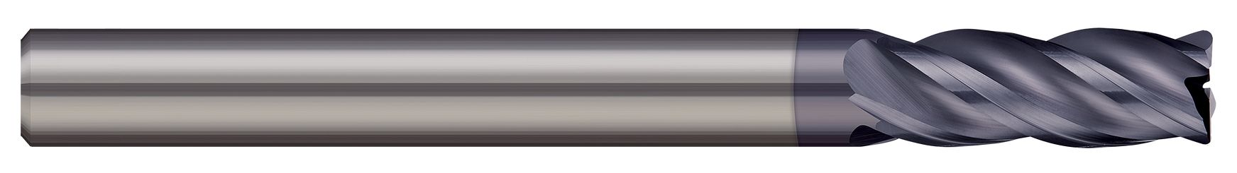 End Mills for Steels & High Temperature Alloys - Corner Radius - 4 Flute - Variable Helix