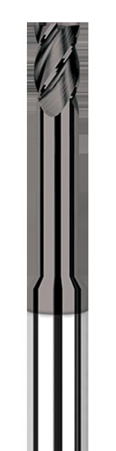Diamond End Mills for Non-Ferrous Materials - CVD Diamond - Square - Long Reach, Stub Flute
